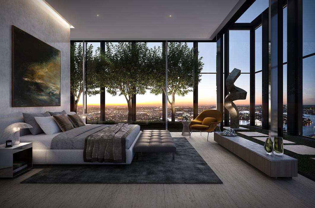 """L'attico """"super-prime"""" da $ 35 milioni, uno dei piú nuovi e piú alti edifici della città di Sydney"""